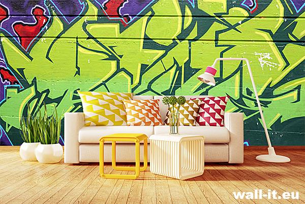 graffiti na ścianę